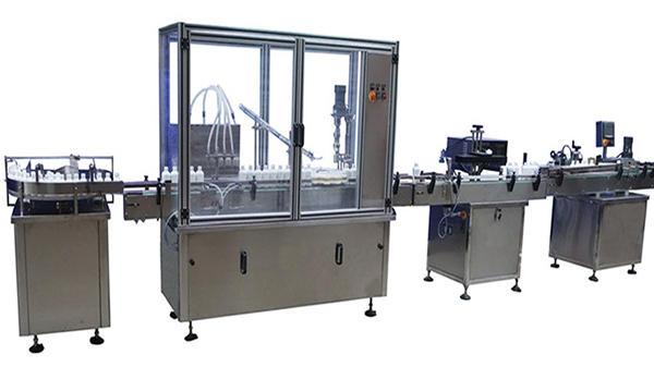 स्वचालित बोतल भरने कैपिंग और लेबलिंग मशीन