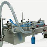 वायवीय नियंत्रण डबल सिर चिकनाई तेल भरने की मशीन