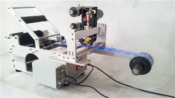छोटी गोल बोतल Llabeling मशीन