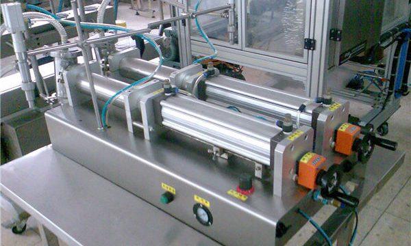 अच्छी गुणवत्ता डबल नलिका तरल शैम्पू भरने की मशीन