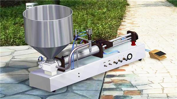 सेमी-ऑटो वर्टिकल टूथ पेस्ट भरने की मशीन