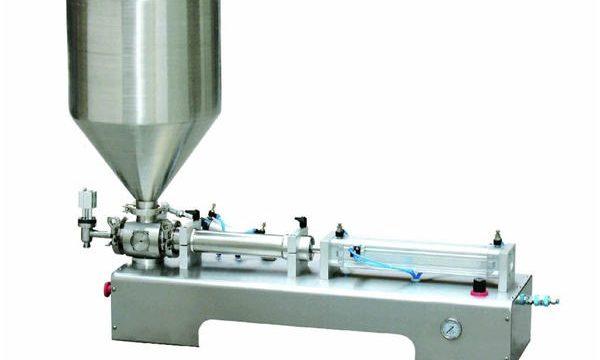अर्ध स्वचालित कैलेमाइन लोशन पेस्ट / तरल बोतल पिस्टन भरने की मशीन