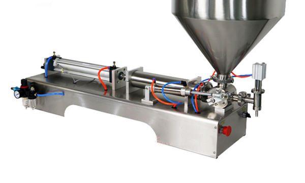 अर्द्ध स्वचालित पिस्टन मोटी सॉस भरने की मशीन